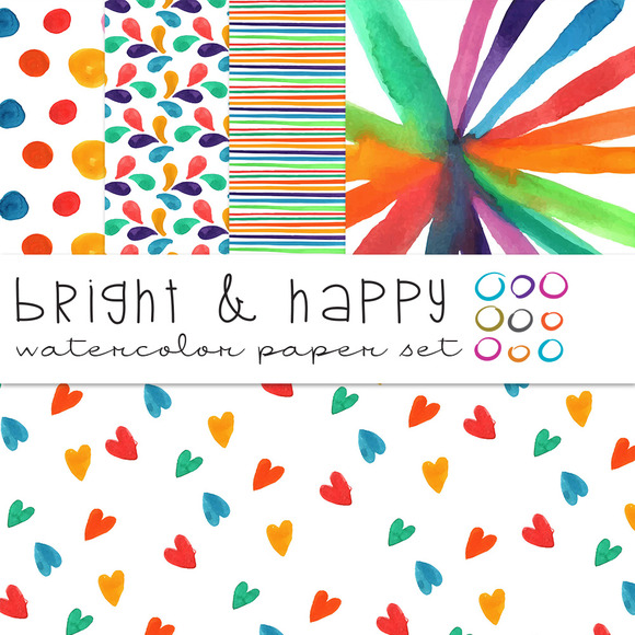 Bright Happy Watercolor Papers