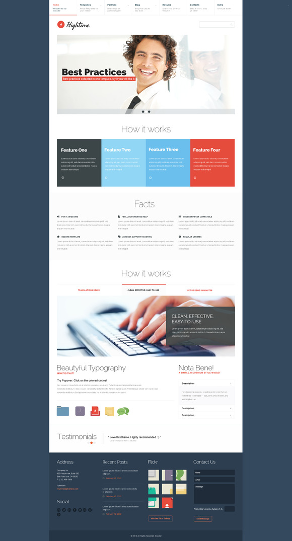 Hightime PSD Template