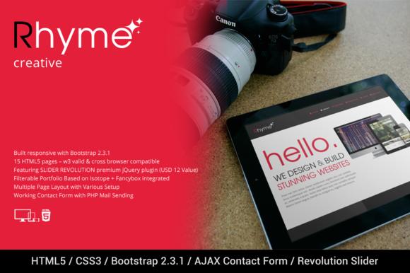 RHYME Responsive Creative HTML5