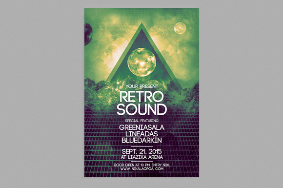 Retro Futuristic Flyer Templates