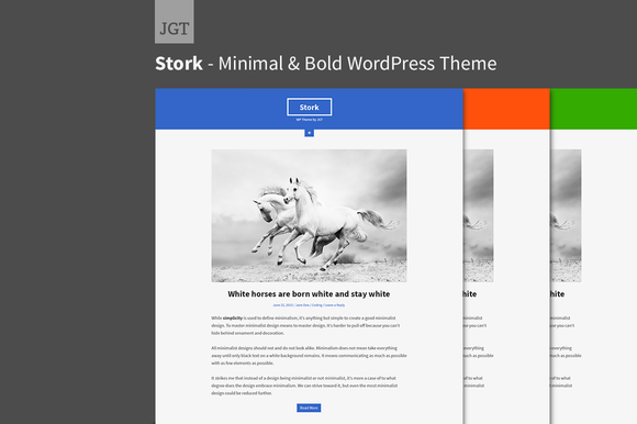 Stork Minimal WordPress Theme