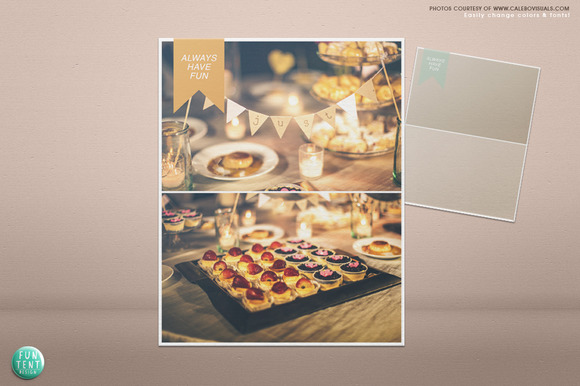2 Photos Blog Board Collage Template