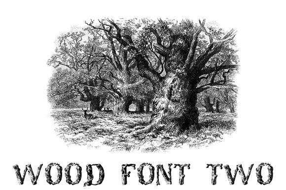 Wood Font Two