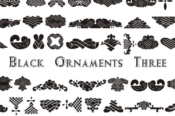 Black Ornaments Three
