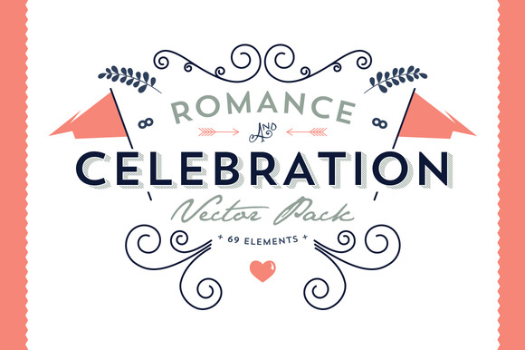 Romance Celebration Vector Pack