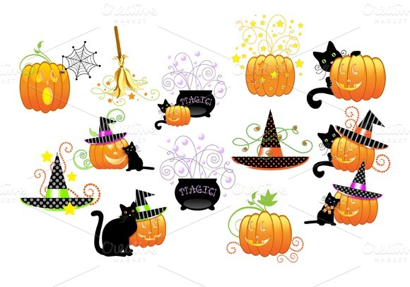 Halloween Clipart...13 Png Files..