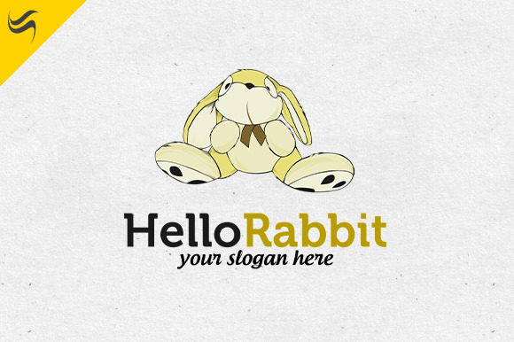 Hello Rabit Logo Template