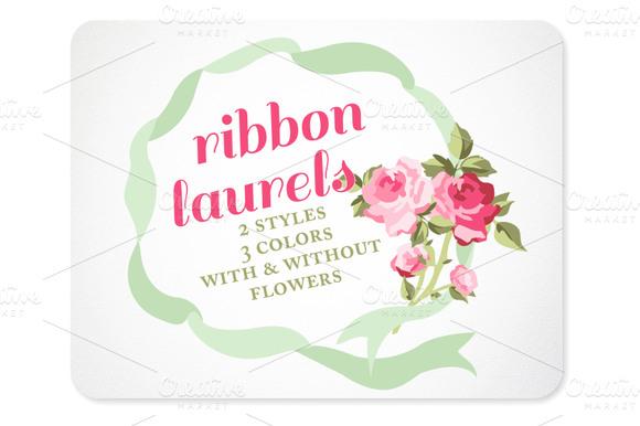 Ribbon Wreaths Laurels