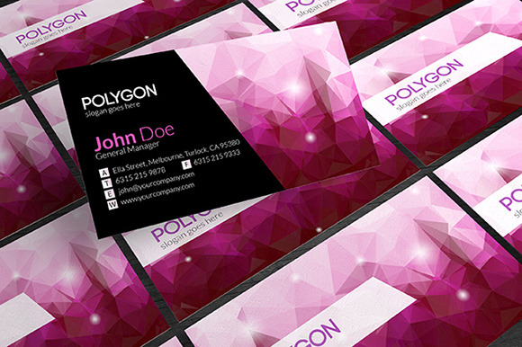 Purple Polygonal Business Card