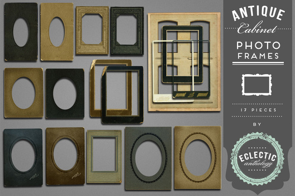 Antique Cabinet Photo Frames