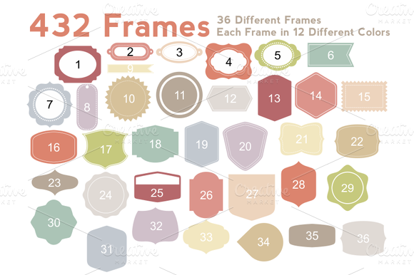 Frames Shapes Vector