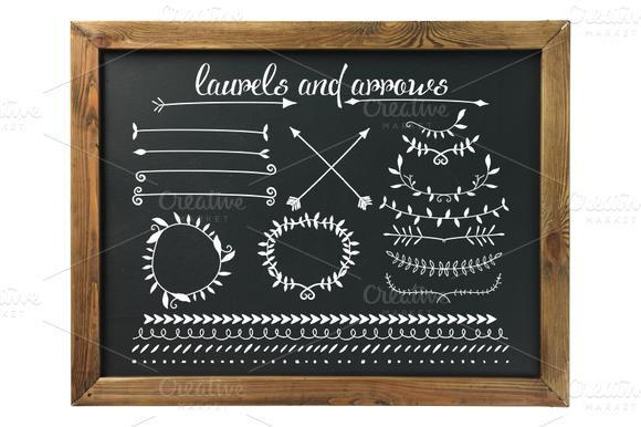 Black White Arrows Laurels
