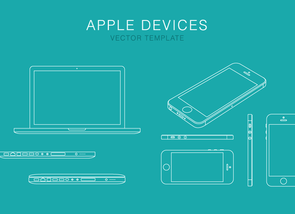 Apple Devices Vector Template