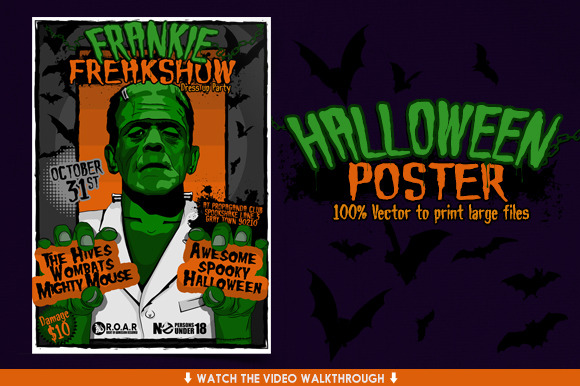 Halloween Flyer HUGE Vector Poster