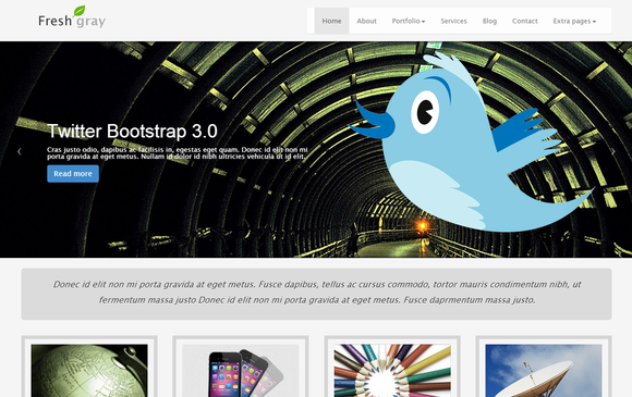 Grey Theme Bootstrap 3.0