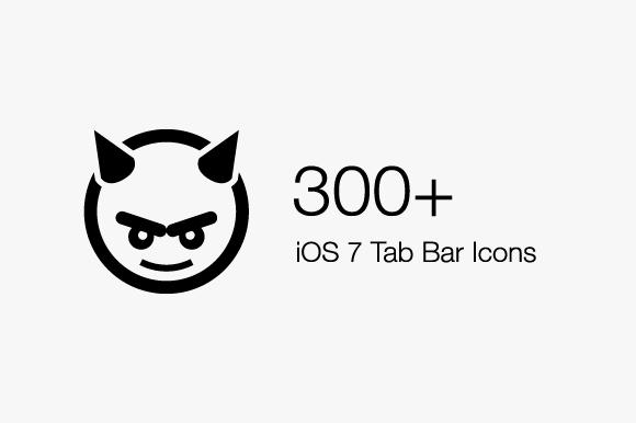 300 IOS 7 Tab Bar Icons IconBeast