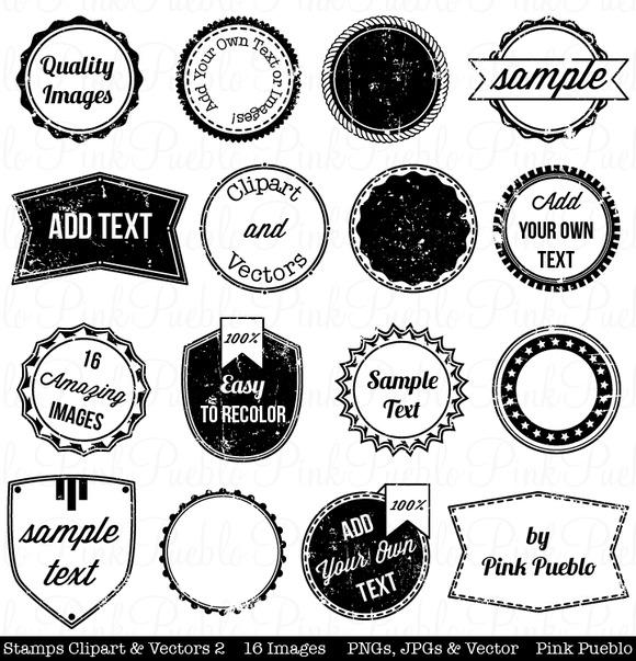 Stamps Clipart Vectors 2