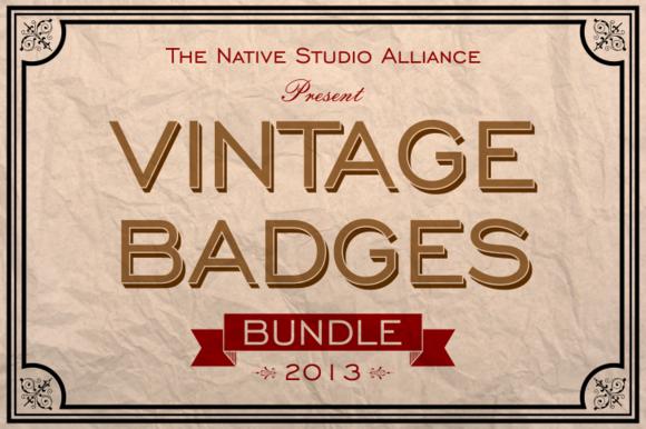 Vintage Badges Bundle 2013