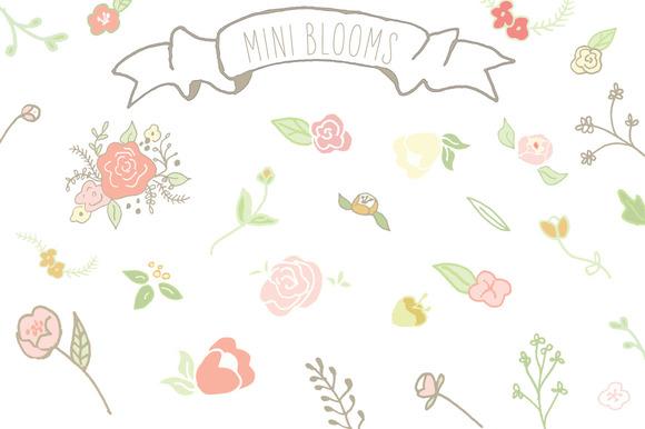 Mini Blooms Clip Art