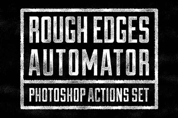 Rough Edges Automator PS Actions