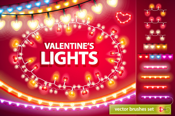 Valentine S Lights Decorations Set
