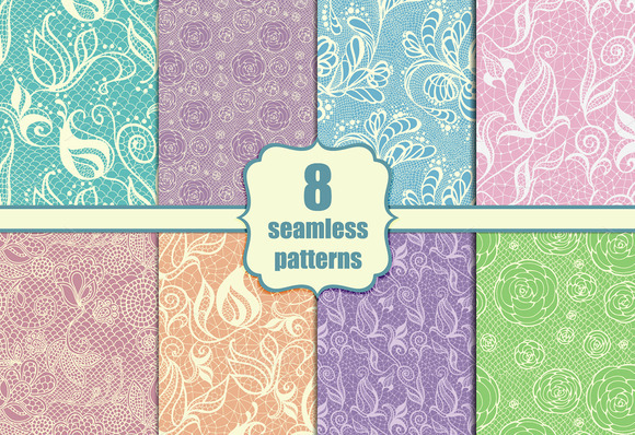 8 Seamless Lacy Patterns