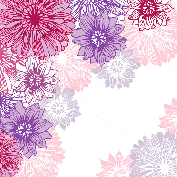 Floral Backgrounds With Flowers