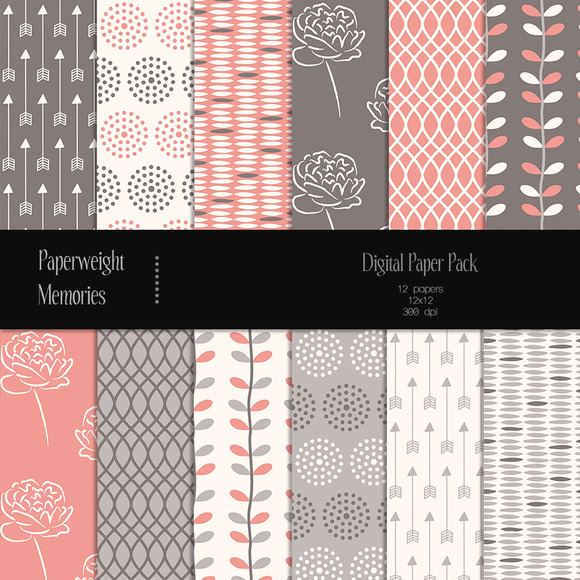 Patterned Paper Berry Kiss