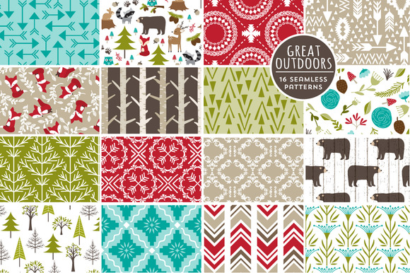Great Outdoors Seamless Patterns