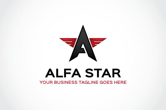 Alfa Star Logo Template