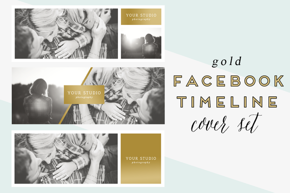 Gold Facebook Timeline Cover Set