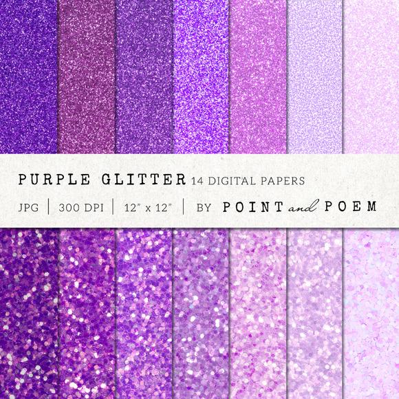 Purple Glitter Texture