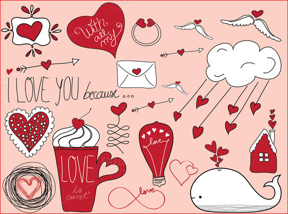 Valentine��s Day Doodles