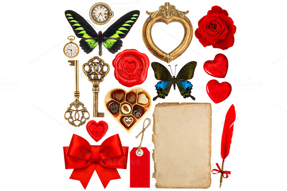 Objects For Valentines Day Scrapbook