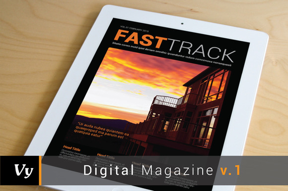 Digital Magazine Template Vol 01