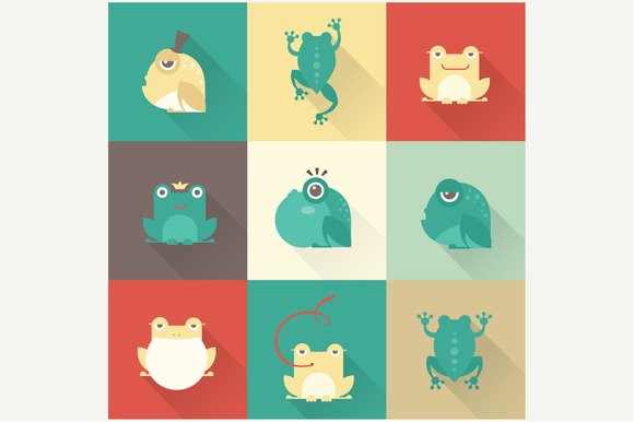 Vector Frog Icons