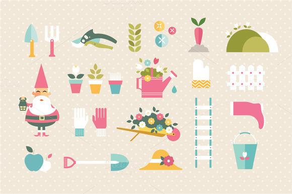 Flat Garden Icons