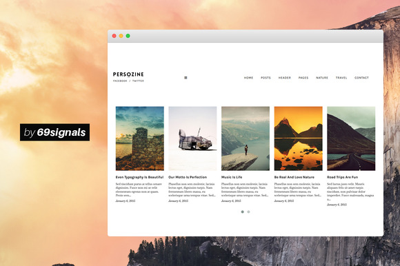 Persozine Minimal WordPress Theme