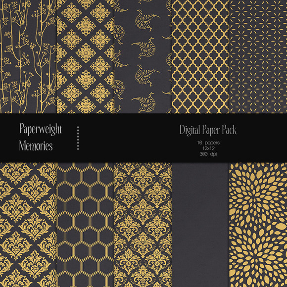 Patterned Paper Gilded Dreams