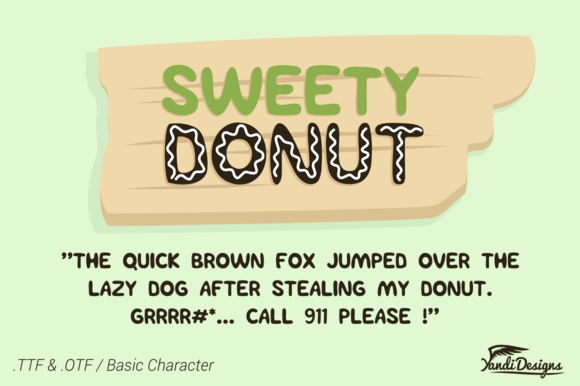 Sweety Donut Fonts