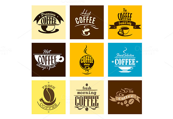 Hot Fresh Morning Coffee Banners