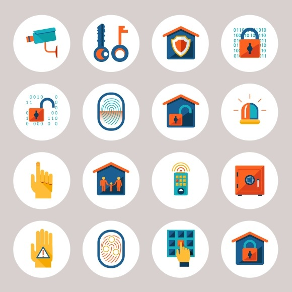 Real Estate Protection Icons