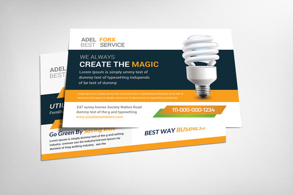 Utility Energy Postcard Template