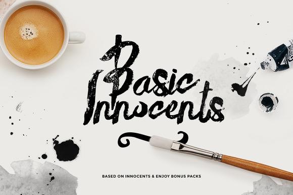 Basik Rough Typeface Bonus