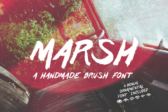Marsh Hand Drawn Brush Font Bonus