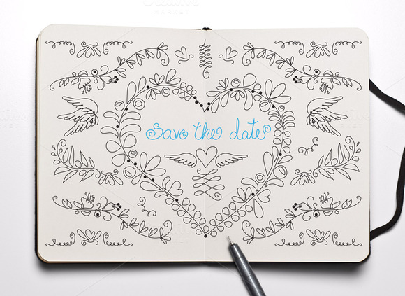 Save The Date Doodle Pack