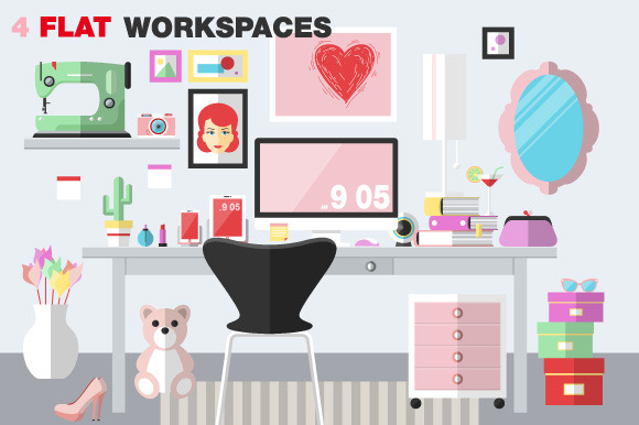 Woman Office Workspace