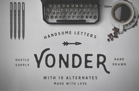 Yonder Hand Drawn Font