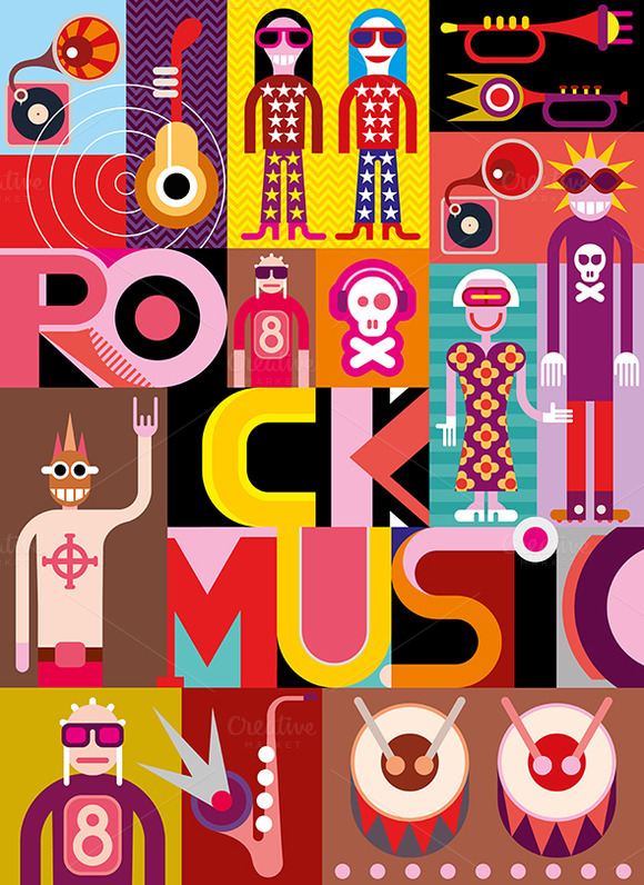 Five Rock Music Posters