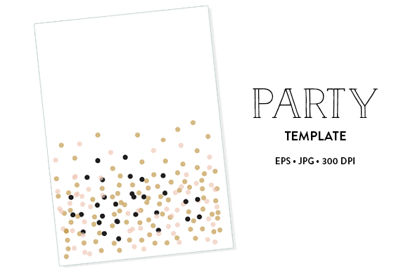 1 Party Tempate EPS JPG